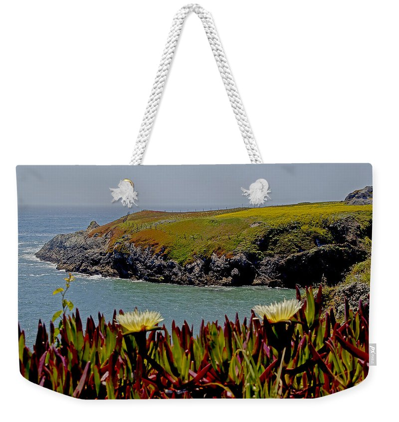 Northern California Weekender Tote Bag featuring the photograph Colorful Point by Mick Anderson