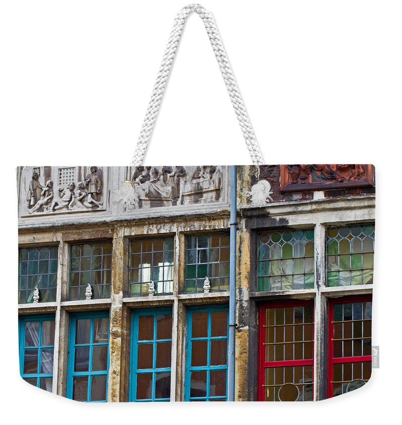 Europe Weekender Tote Bag featuring the photograph Colorful Windows by David Freuthal