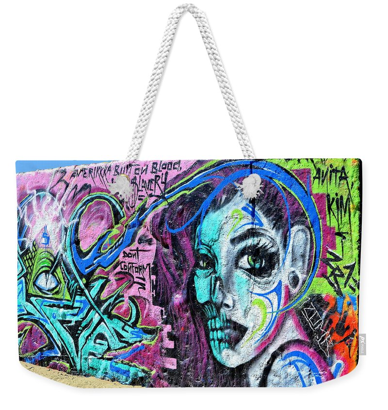 Graffiti Weekender Tote Bag featuring the photograph Colors Of Graffiti by Fraida Gutovich