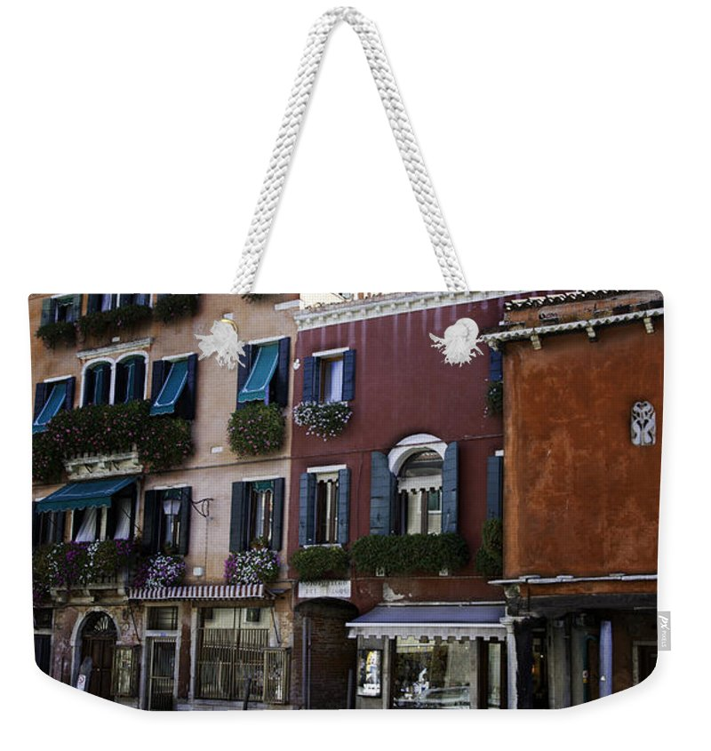 Venice Weekender Tote Bag featuring the photograph Colors Of Venice by Madeline Ellis