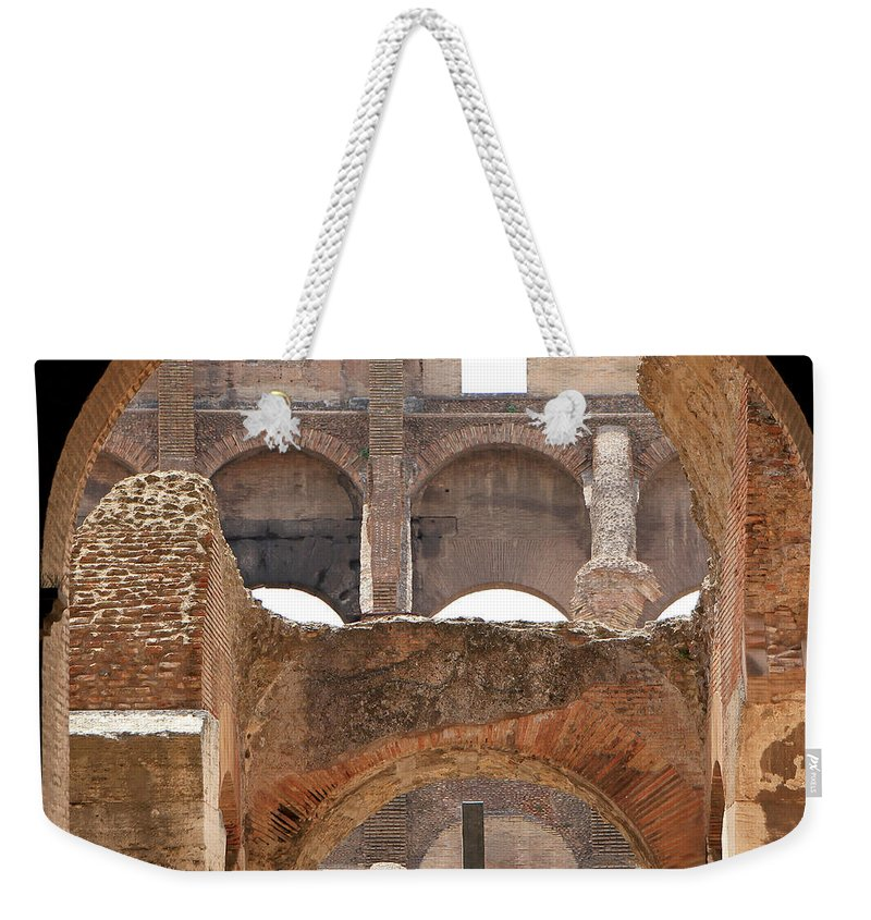 Colosseum Weekender Tote Bag featuring the photograph Colosseum 2 by Andrew Fare