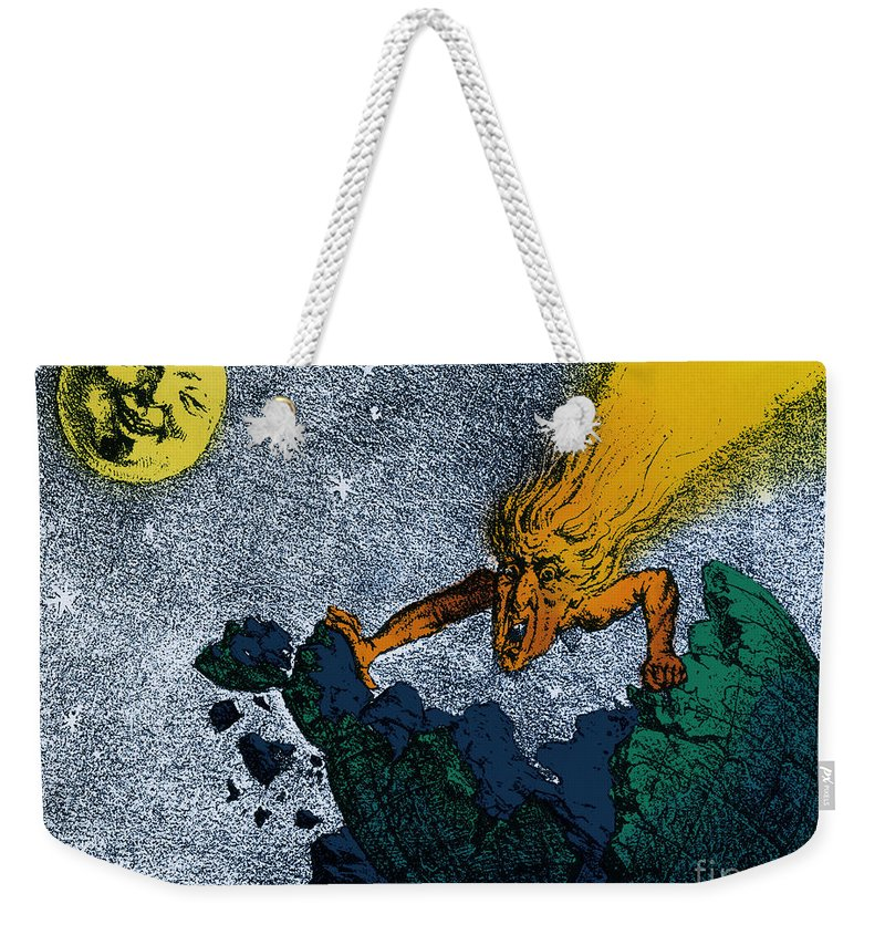 Science Weekender Tote Bag featuring the photograph Comet Apocalypse, 1857 by Science Source