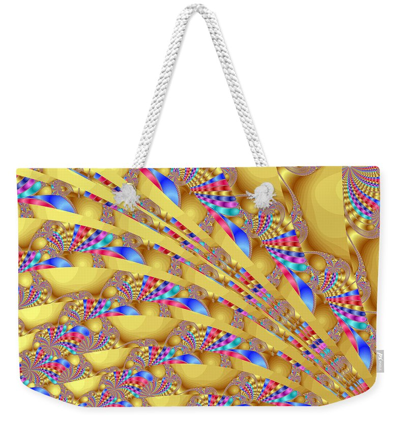 Fractal Weekender Tote Bag featuring the digital art Complex Garden 2 by Mark Greenberg