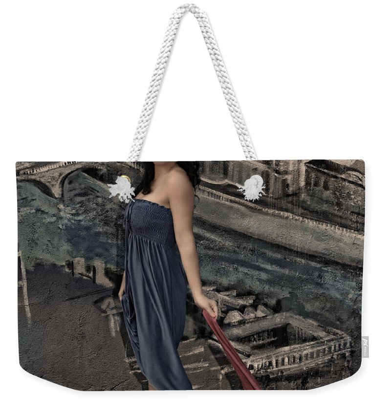 Woman Weekender Tote Bag featuring the photograph Concrete Velvet 1 by Donna Blackhall