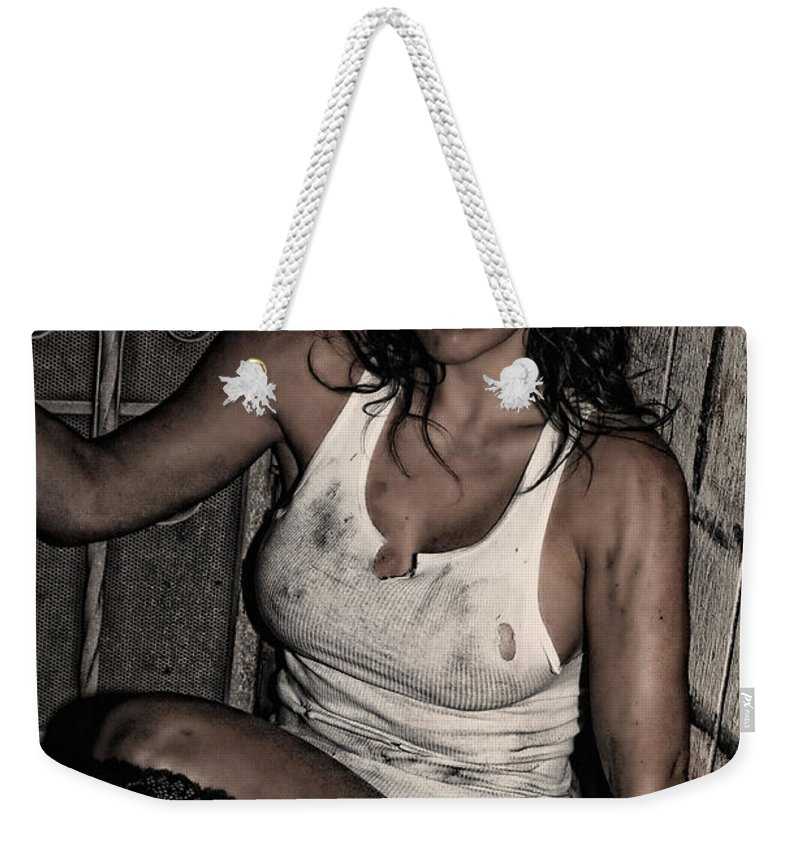 Woman Weekender Tote Bag featuring the photograph Concrete Velvet 31 by Donna Blackhall