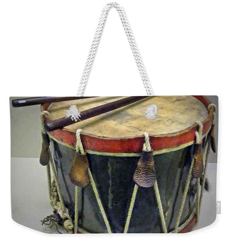 Drum Weekender Tote Bag featuring the photograph Confederate Drum by Dave Mills