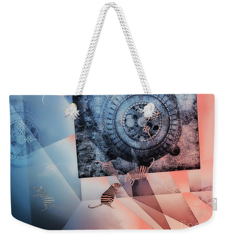 3d Weekender Tote Bag featuring the digital art Confusion by Jutta Maria Pusl