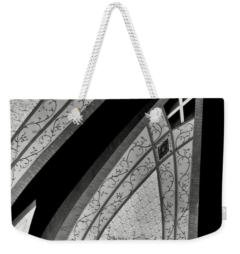 Abstract Weekender Tote Bag featuring the photograph Connecting Pieces by Syed Aqueel