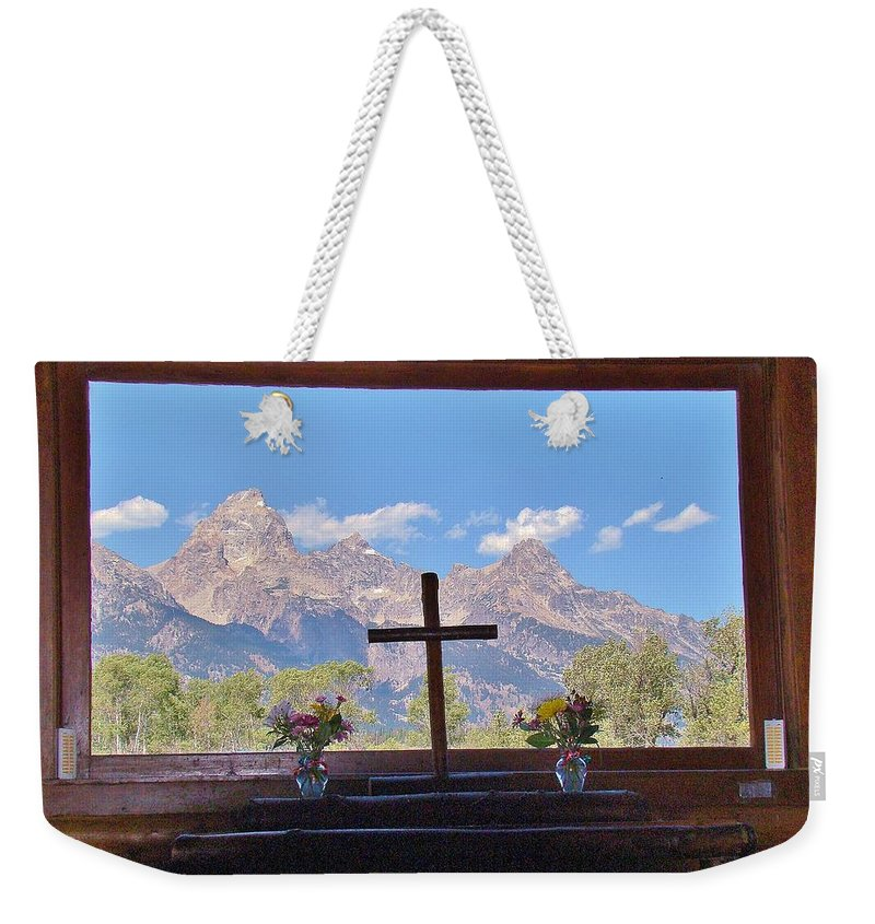 Mountains Weekender Tote Bag featuring the photograph Connie's View by Michael MacGregor