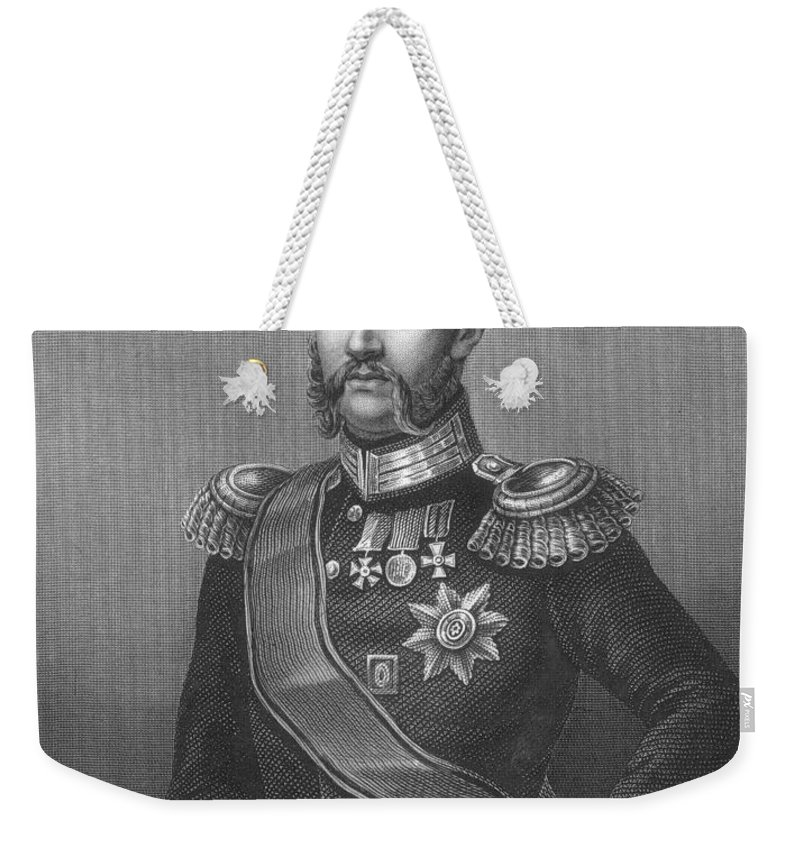 1870s Weekender Tote Bag featuring the photograph Constantine (1827-1892) by Granger