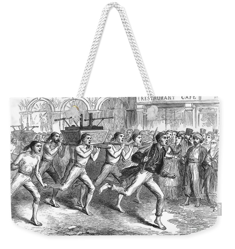 1870 Weekender Tote Bag featuring the photograph Constantinople Firemen by Granger