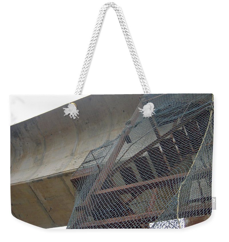 Metro Weekender Tote Bag featuring the photograph Construction Work For The Delhi Metro Along With Safety Net by Ashish Agarwal
