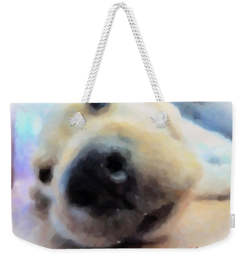 Dog Weekender Tote Bag featuring the painting Contentment by Lynne Jenkins