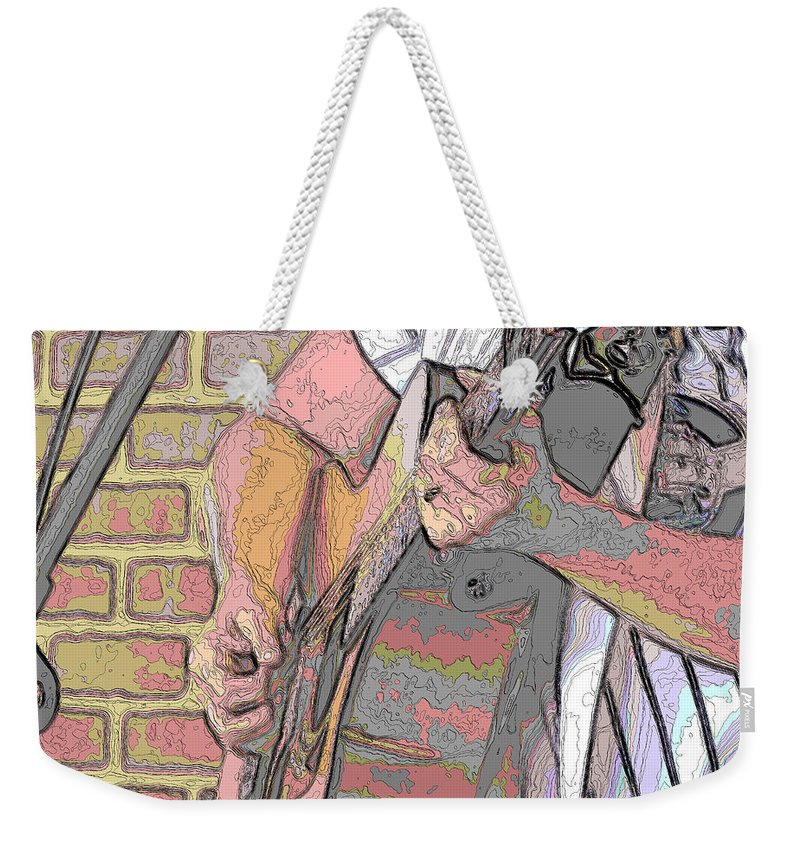 Guitar Weekender Tote Bag featuring the photograph Contorno Guitarist 1 by C H Apperson