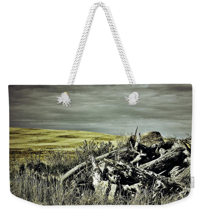 Street Photographer Weekender Tote Bag featuring the photograph Controlled Burn by The Artist Project