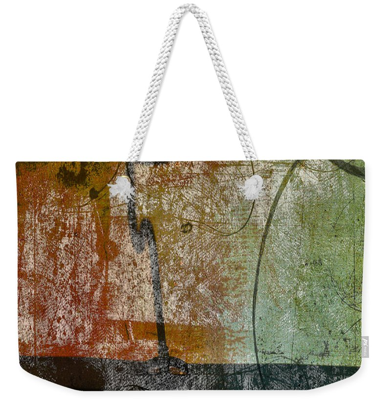 Abstract Weekender Tote Bag featuring the photograph Conversation Decline by The Artist Project