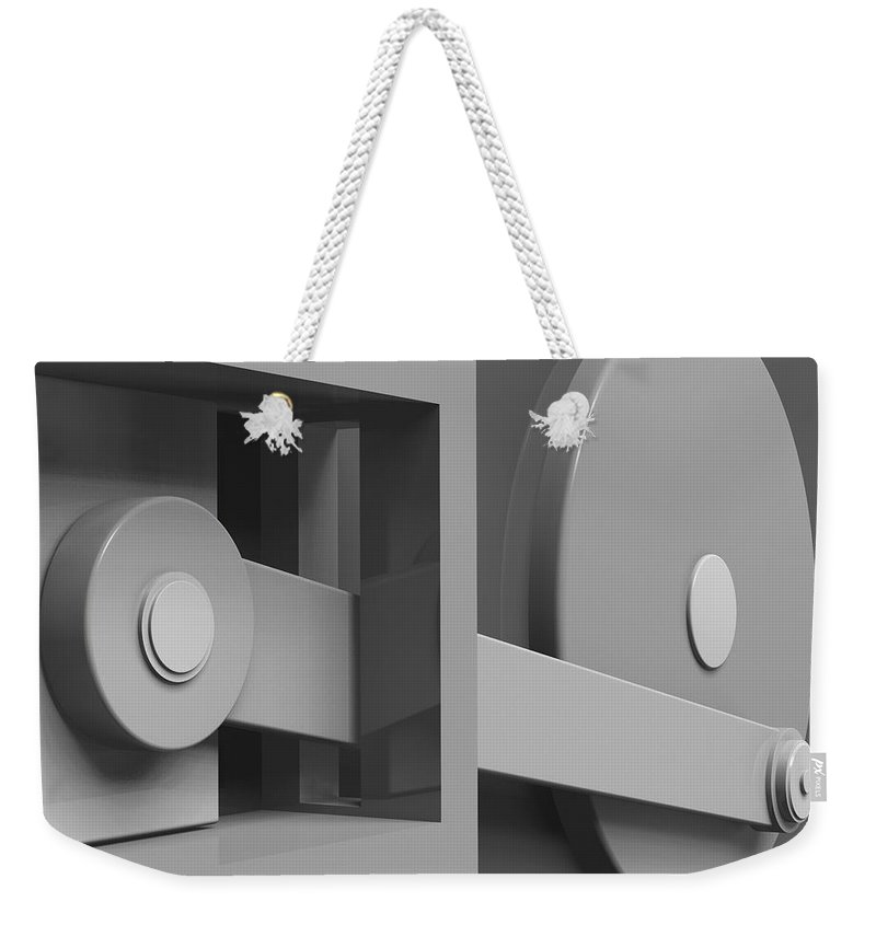 Conversion Weekender Tote Bag featuring the digital art Conversion by Richard Rizzo