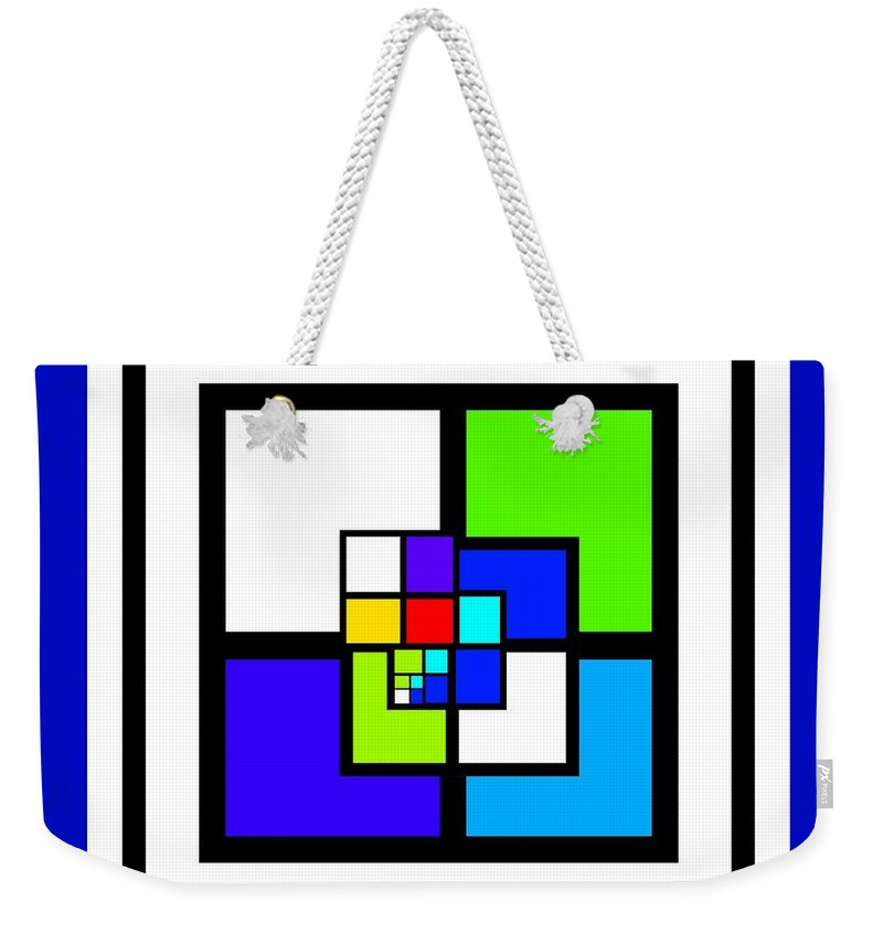 Cote Weekender Tote Bag featuring the painting Cool Blue by Charles Stuart