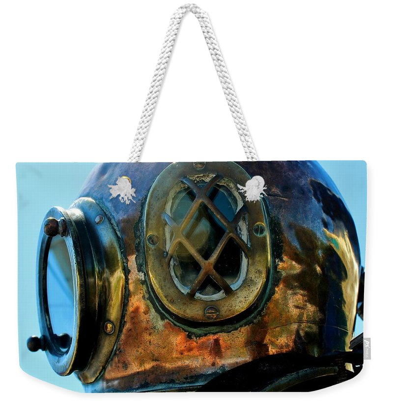 Dive Helmet Weekender Tote Bag featuring the photograph Copper Head by Rene Triay Photography