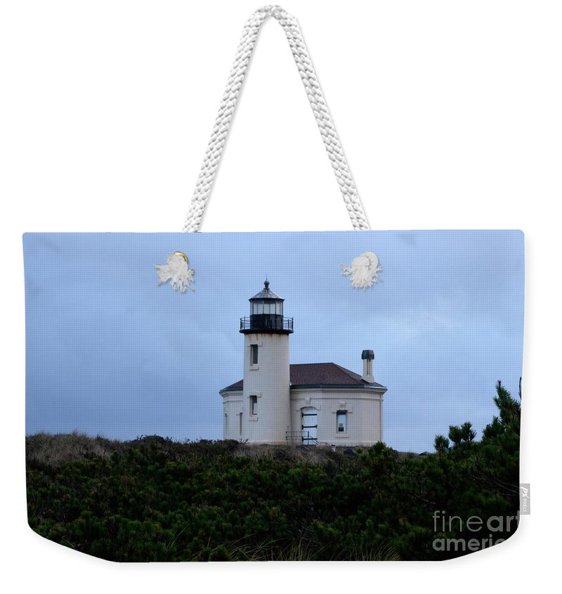 Lighthouse Weekender Tote Bag featuring the photograph Coquille Lighthouse by Bob Christopher