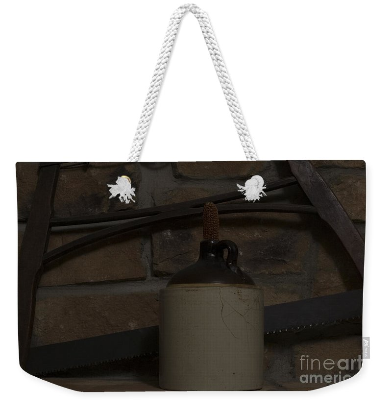 Antique Weekender Tote Bag featuring the photograph Corked White Lightning 13 by Alan Look