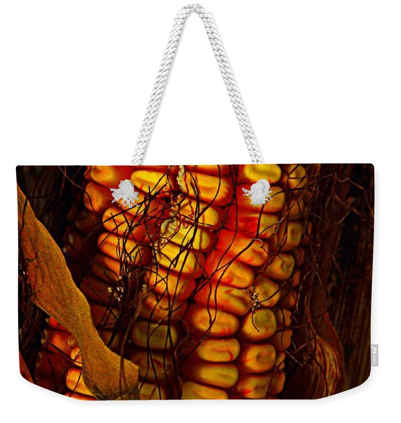 Nature Weekender Tote Bag featuring the photograph Corn by Chris Berry