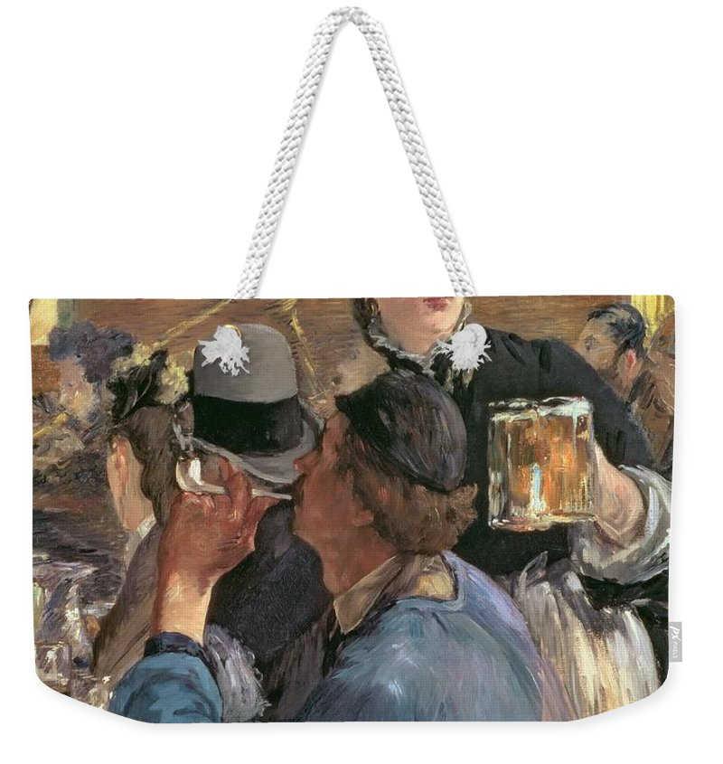 Brasserie De Reichshoffen; Beer; Pipe; Waitress; Audience; Dancer; Impressionist; Cabaret; Choppe; Biere; Leisure; Cafe; Concert Weekender Tote Bag featuring the painting Corner Of A Cafe-concert by Edouard Manet