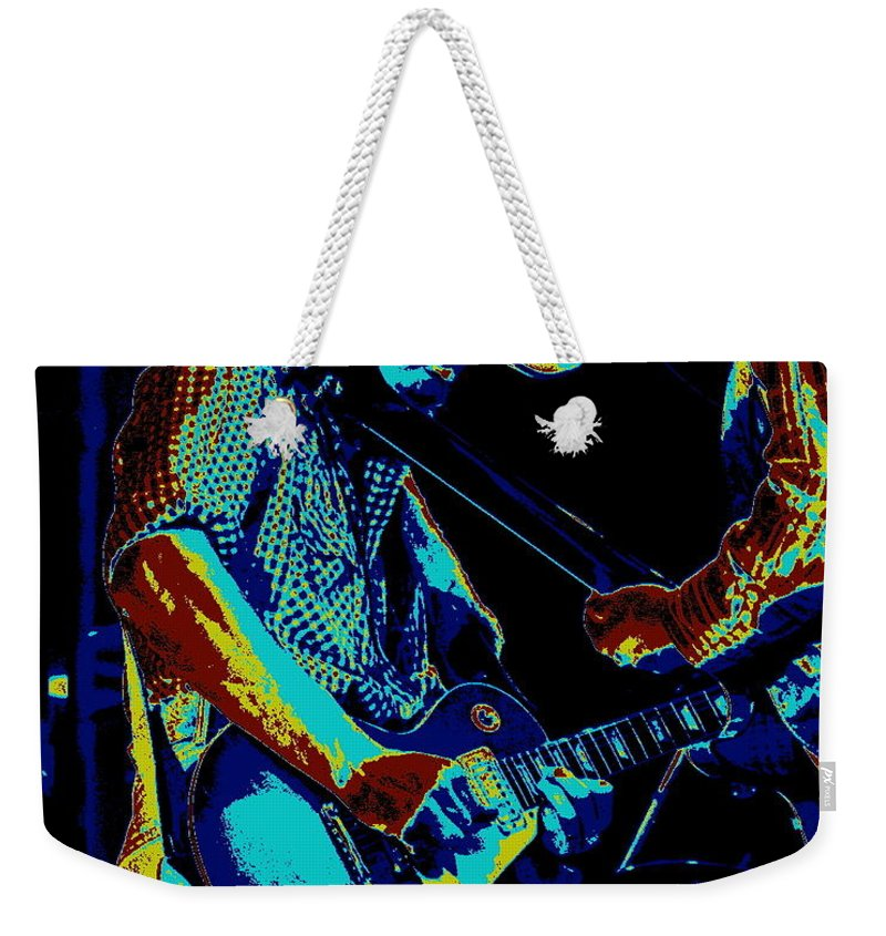 Tommy Crain Weekender Tote Bag featuring the photograph Cosmic Cdb At Winterland In 1975 by Ben Upham