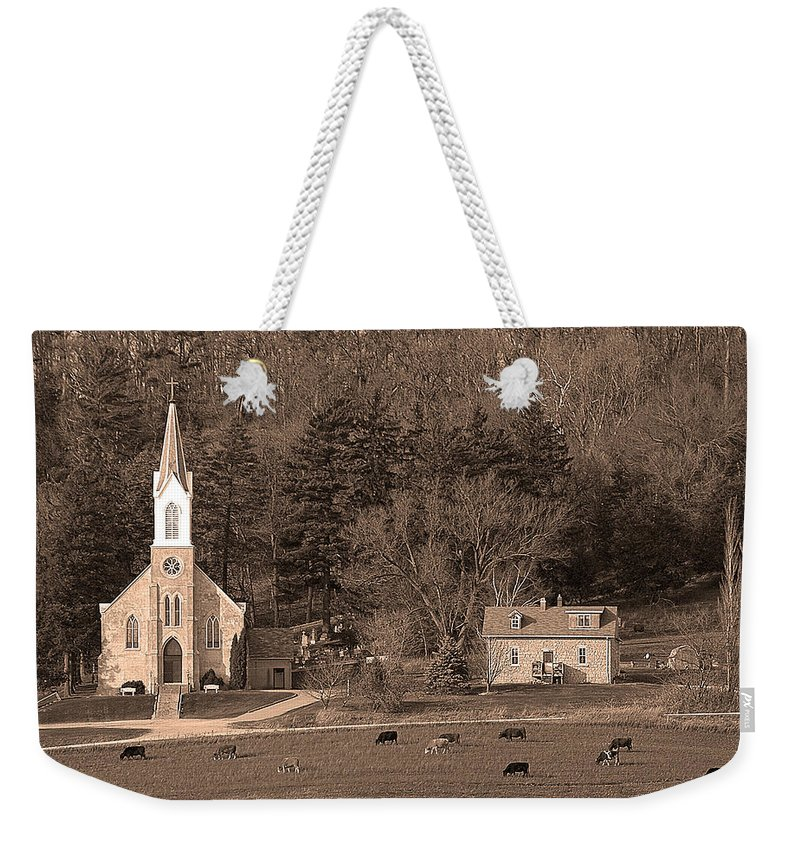 Upper Iowa Weekender Tote Bag featuring the photograph Country Church by Randall Branham