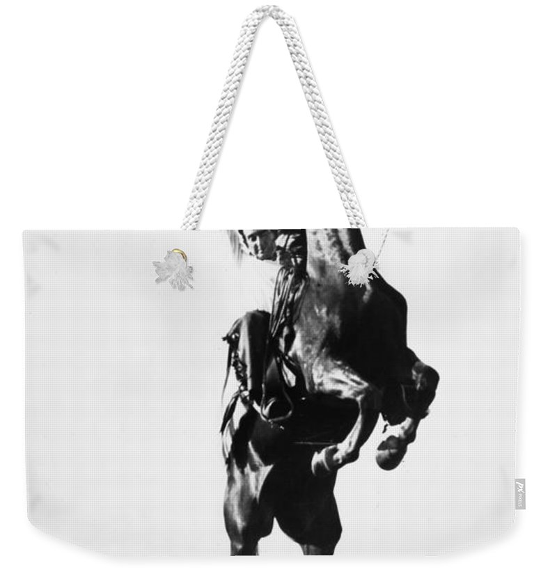 1909 Weekender Tote Bag featuring the photograph Cowboys, 1909 by Granger