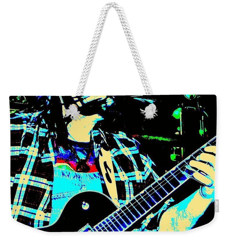 Band Weekender Tote Bag featuring the photograph Coyote Bill by Chris Berry