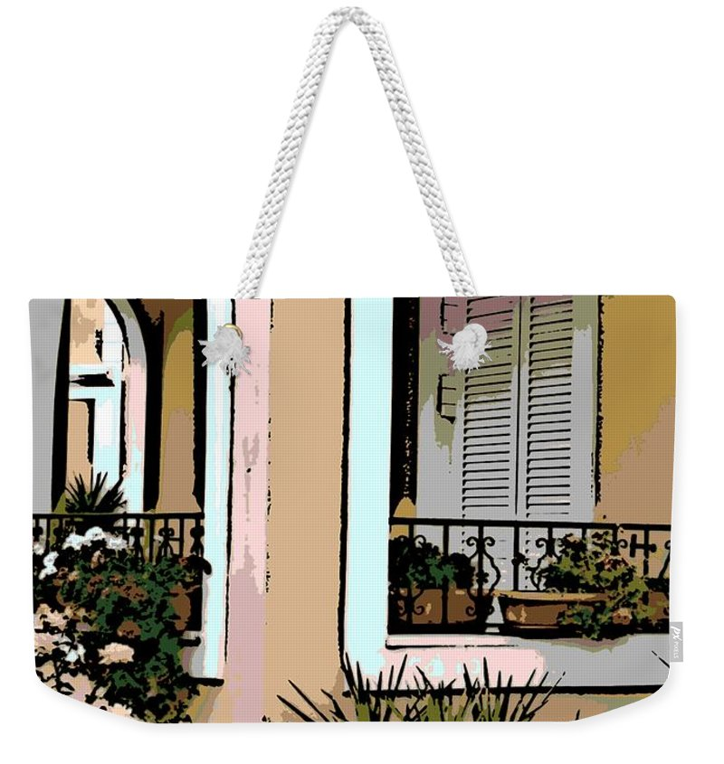 Cozy Weekender Tote Bag featuring the photograph Cozy Arches by George Pedro