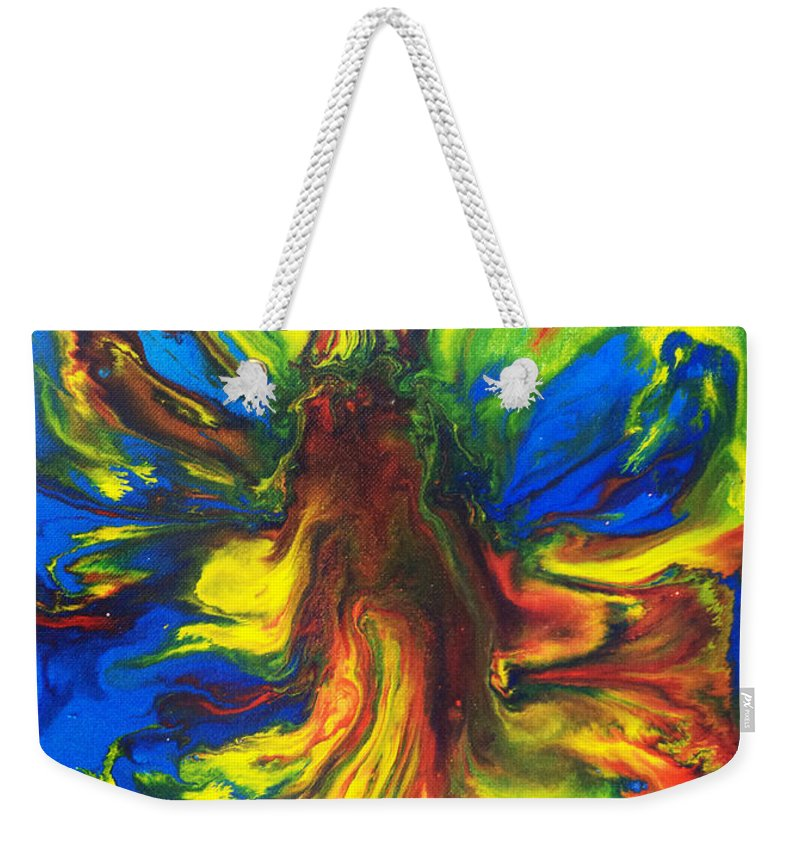 Abstract Expressionist Paintings Weekender Tote Bag featuring the painting Crabtree by Luis Remesar