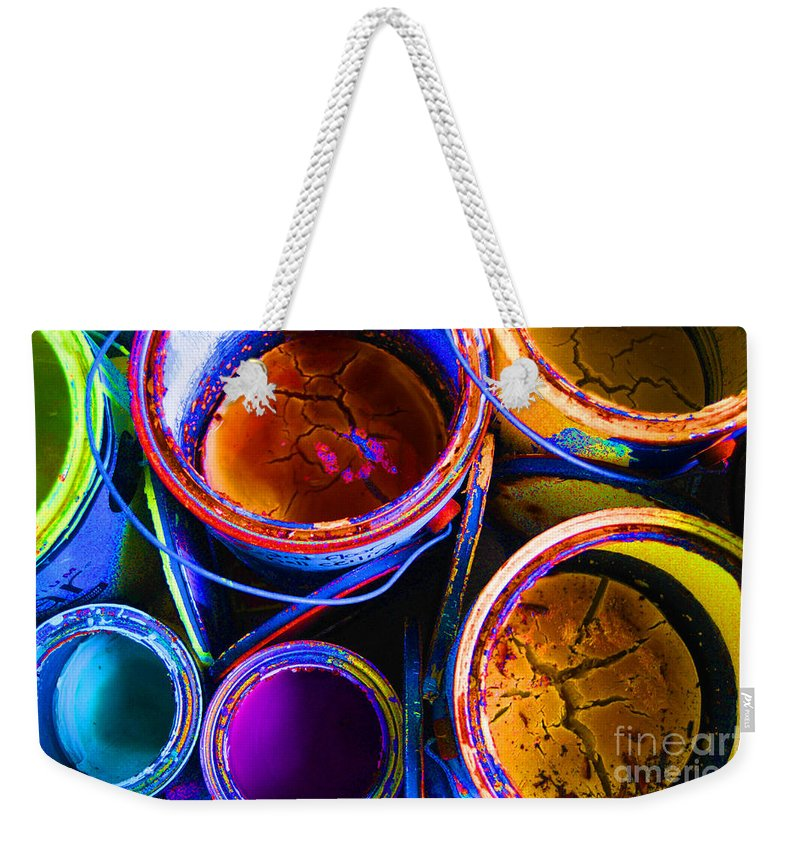 Paint Weekender Tote Bag featuring the photograph Crackled Paint by Cindy Roesinger