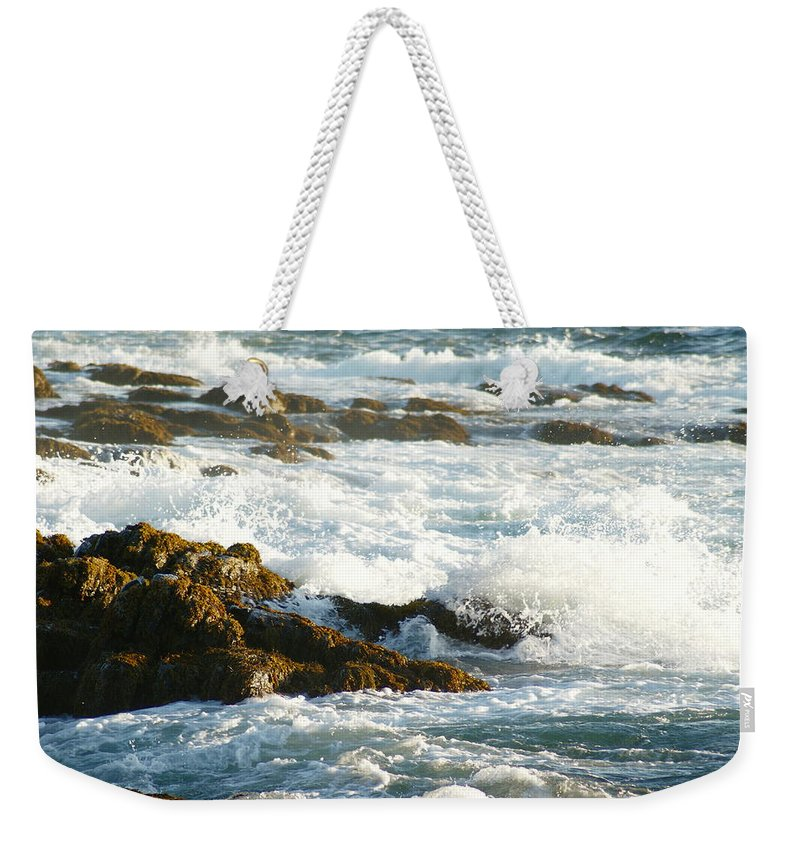 Weekender Tote Bag featuring the photograph Crashing Waves by Joe Faherty