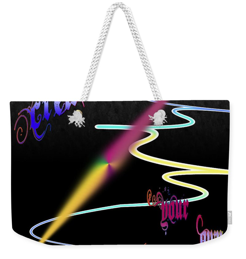 Clay Weekender Tote Bag featuring the digital art Create Your Own Path Verbally II by Clayton Bruster