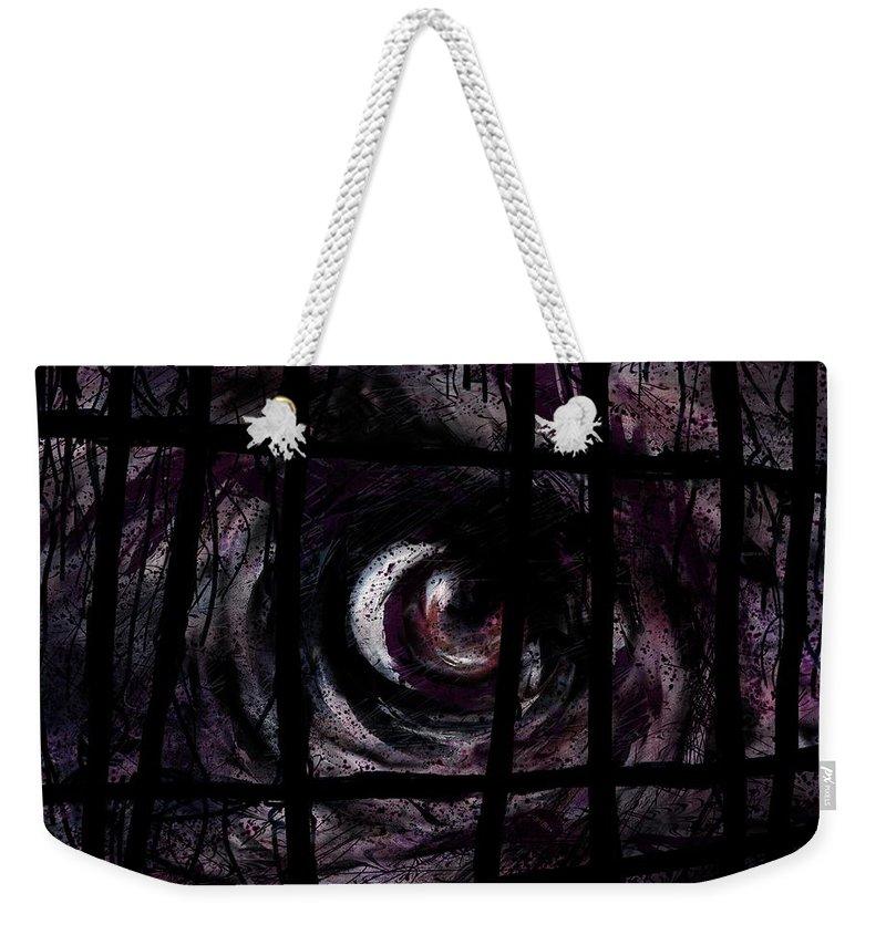 Creature Weekender Tote Bag featuring the digital art Creature by Rachel Christine Nowicki