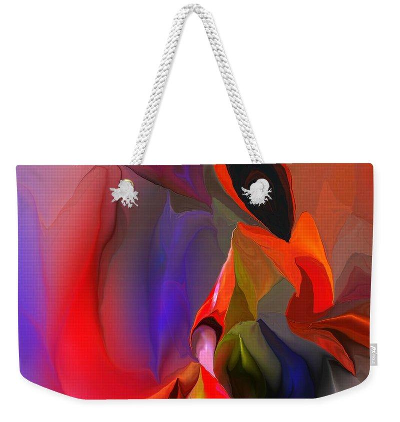 Crises Weekender Tote Bag featuring the digital art Crises by David Lane