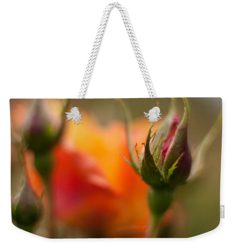 Flower Weekender Tote Bag featuring the photograph Crisp New Buds by Mike Reid