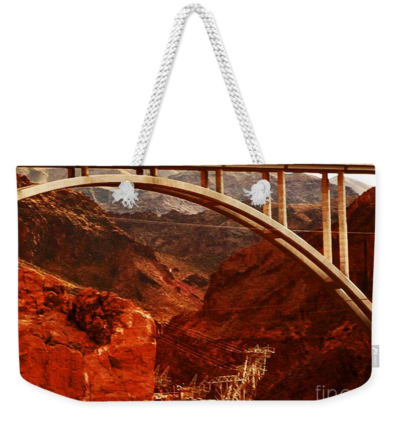 Bridge Weekender Tote Bag featuring the photograph Crossing Over by Angela L Walker