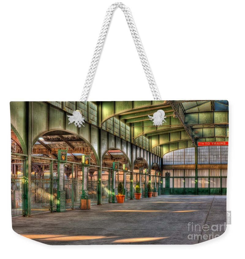 Clarence Holmes Weekender Tote Bag featuring the photograph Crrnj Terminal II by Clarence Holmes