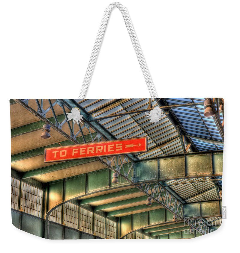 Clarence Holmes Weekender Tote Bag featuring the photograph Crrnj Terminal Iv by Clarence Holmes