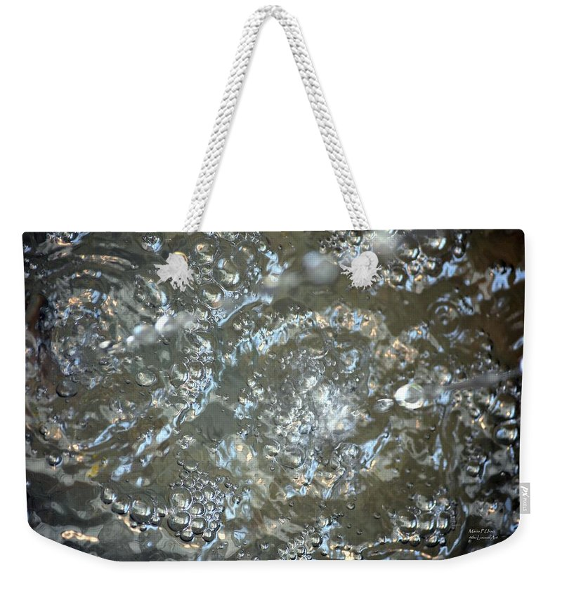 Crystal Weekender Tote Bag featuring the photograph Crystal Clear Bubbles by Maria Urso