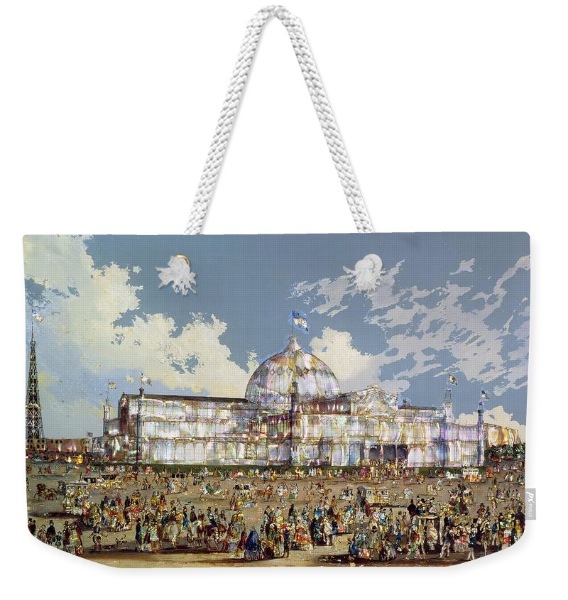 Crystal Palace Weekender Tote Bag featuring the painting Crystal Palace New York by WS Parkes
