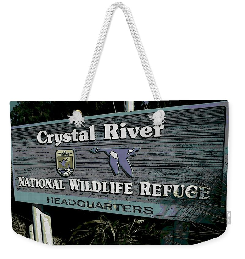 Crystal River Weekender Tote Bag featuring the photograph Crystal River by George Pedro