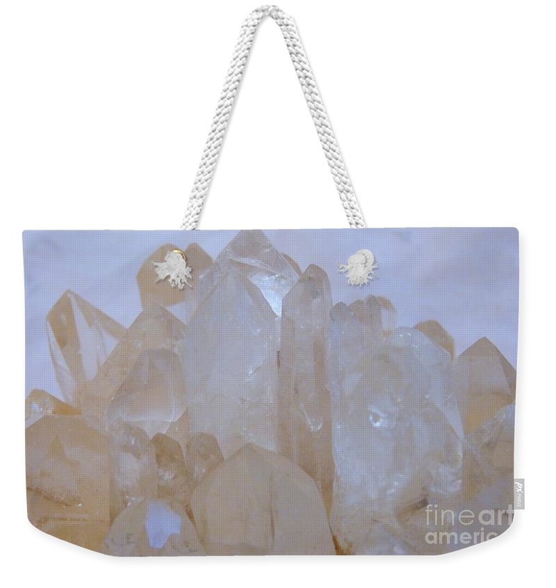 Crystals Weekender Tote Bag featuring the photograph Crystals Au Natural by Mary Deal