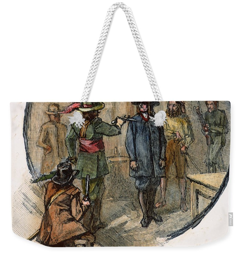 1677 Weekender Tote Bag featuring the photograph Culpepers Rebellion, 1677 by Granger
