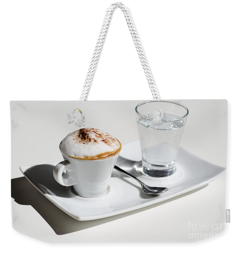 Cup Weekender Tote Bag featuring the photograph Cup Of Coffee by Mats Silvan