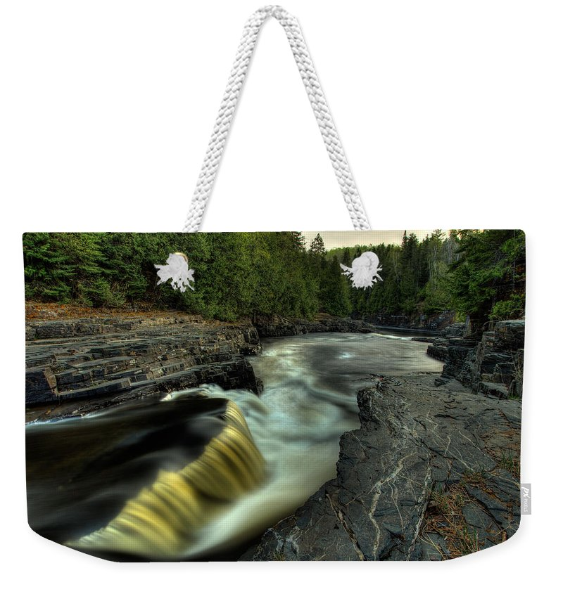 Current River Weekender Tote Bag featuring the photograph Current River Falls by Jakub Sisak