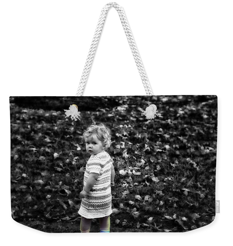 Girl Weekender Tote Bag featuring the photograph Cutie Pie by Madeline Ellis